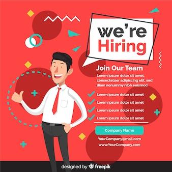 Fondo con concepto oferta de trabajo con empleados