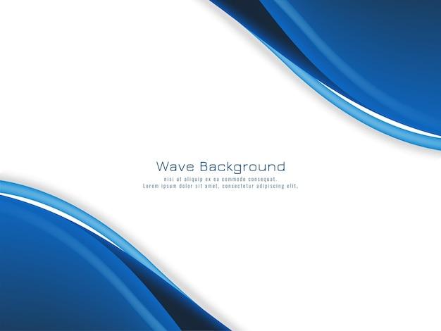 Fondo de concepto de onda azul moderno