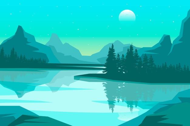 Fondo con concepto de paisaje natural