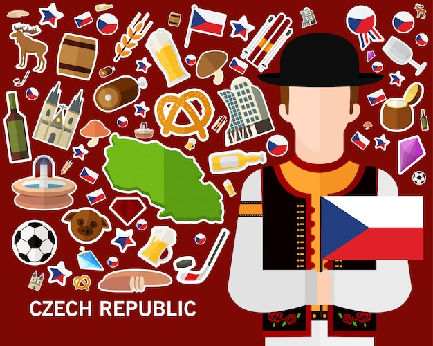 Fondo de concepto de república checa
