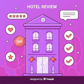 Fondo concepto reseña hotel