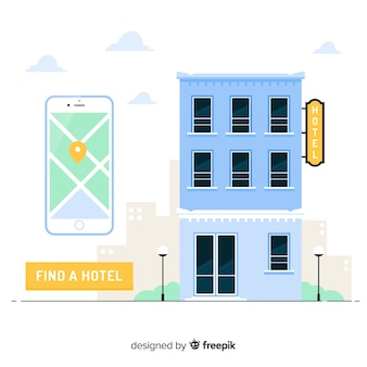 Fondo concepto reserva hotel