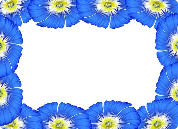 Fondo de concepto de tarjeta de frontera de flor