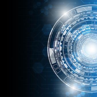 Fondo de concepto de tecnología abstracta futurista.
