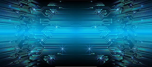 Fondo de concepto de tecnología azul futuro circuito cibernético
