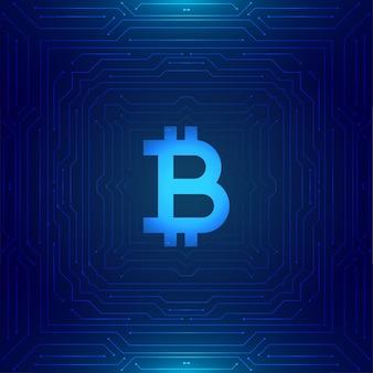 Fondo de concepto de tecnología bitcoin de criptomoneda