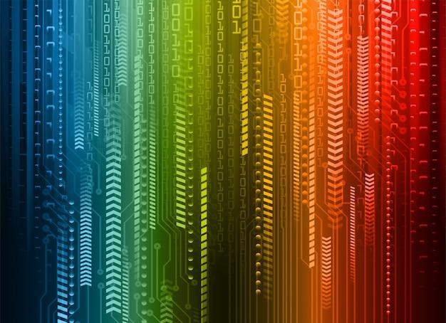 Fondo de concepto de tecnología futura de circuito cibernético azul rojo