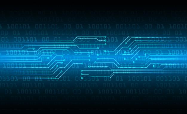 Fondo de concepto de tecnología futura de circuito cibernético azul