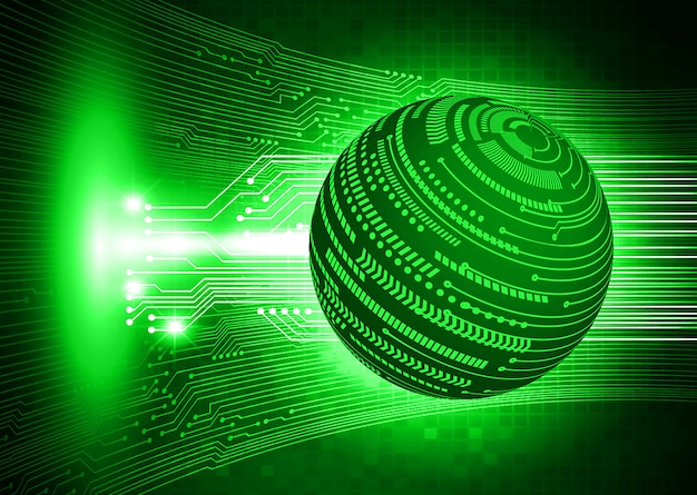 Fondo de concepto de tecnología futura de circuito cibernético mundial