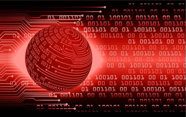 Fondo de concepto de tecnología futura de circuito cibernético mundo rojo