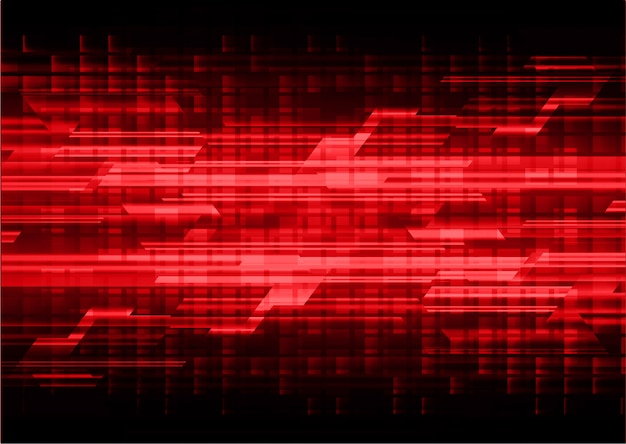 Fondo de concepto de tecnología futura de circuito cibernético rojo