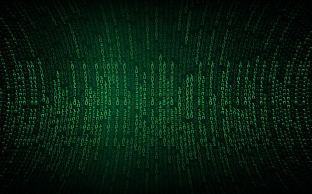 Fondo de concepto de tecnología futura de circuito cibernético verde
