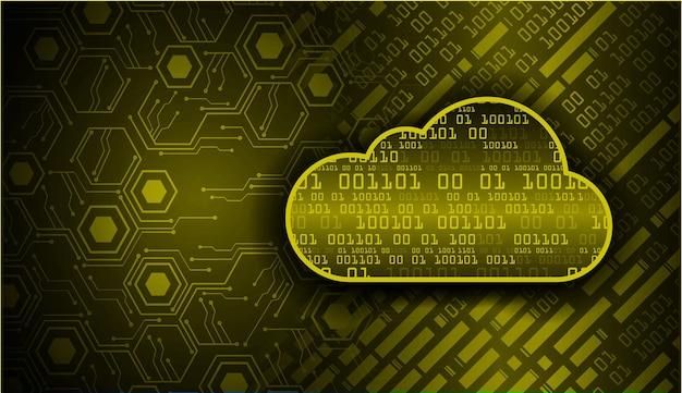 Fondo de concepto de tecnología futura de circuito de computación en la nube