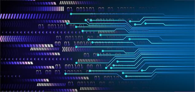 Fondo de concepto de tecnología futura de flecha azul ciber circuito