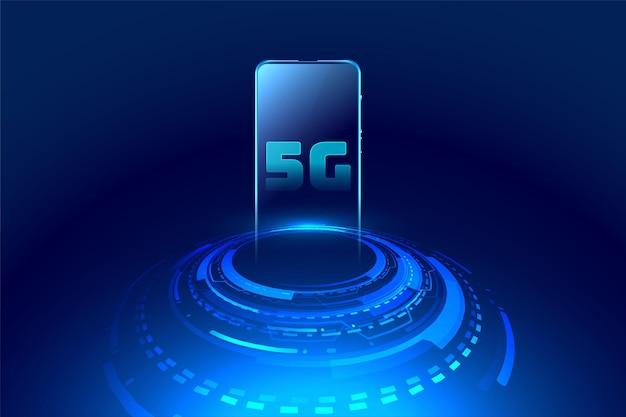 Fondo de concepto de tecnología móvil futurista
