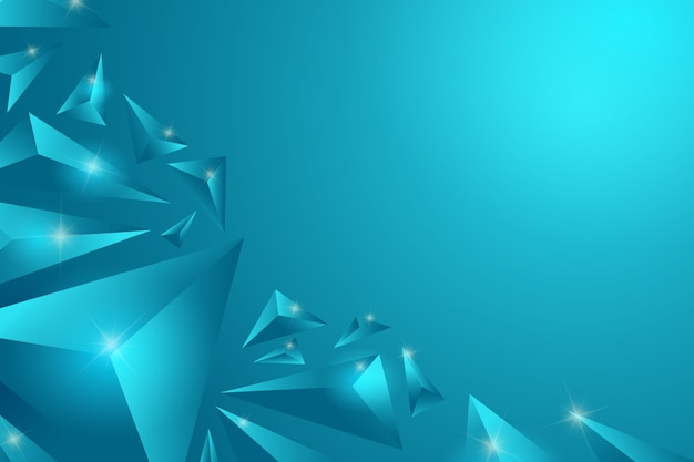 Fondo de concepto turquesa triángulo 3d