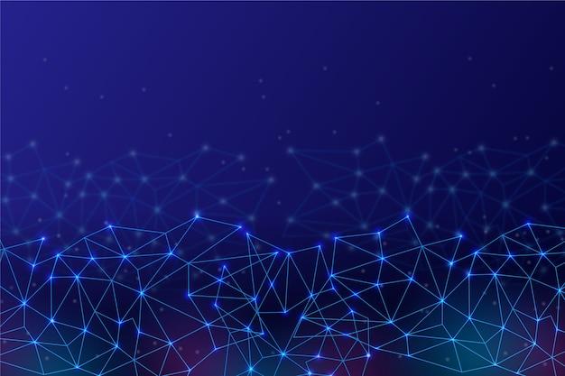 Fondo de conexión de circuito de red de tecnología