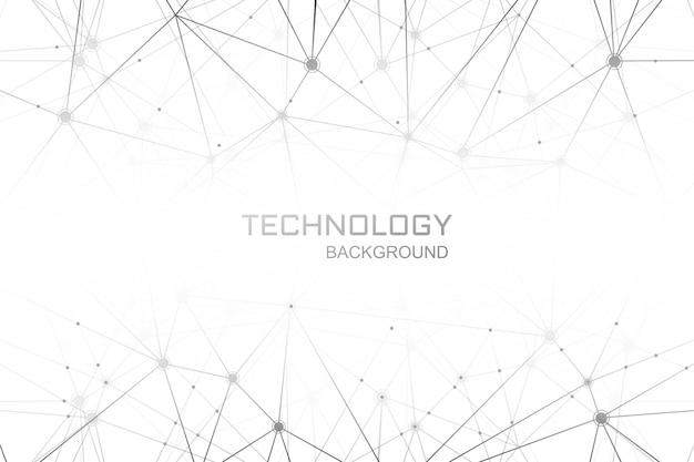 Fondo de conexión de polígono de tecnología digital