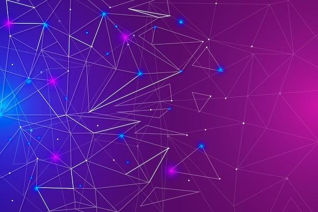 Fondo de conexión de red de color degradado