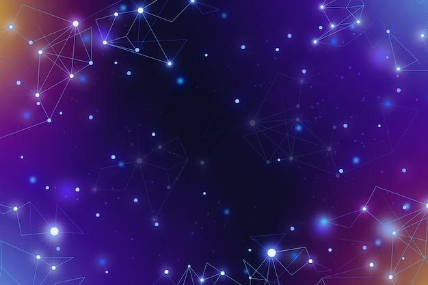 Fondo de conexión de red de formas geométricas