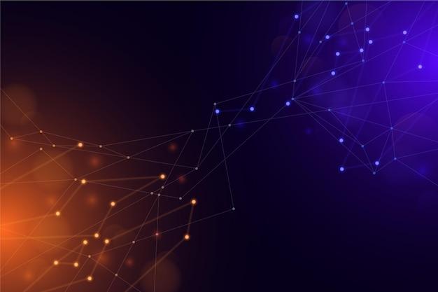 Fondo de conexión de red geométrica