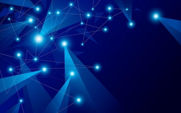 Fondo de conexión de red global abstracta