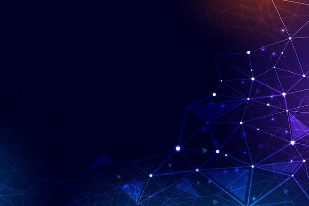 Fondo de conexión de red con líneas
