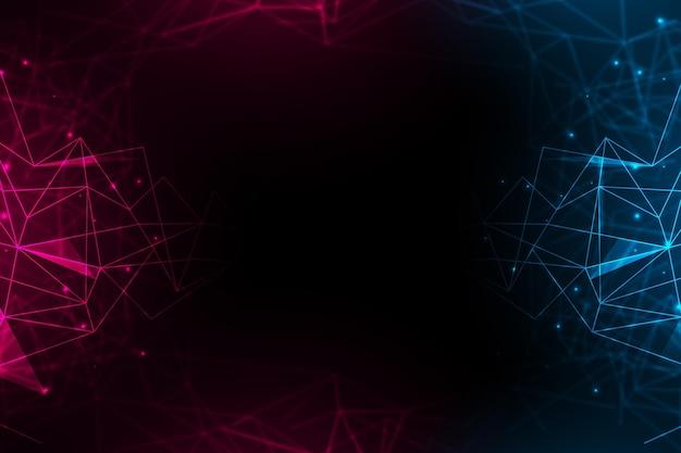 Fondo de conexión de red con puntos