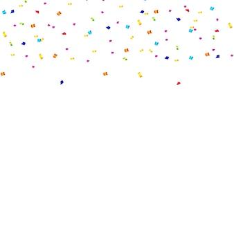 Fondo de confeti abstracto con confeti de lunares.