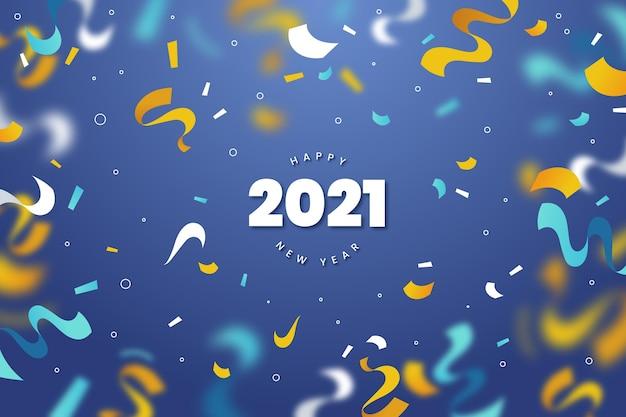 Fondo de confeti año nuevo 2021
