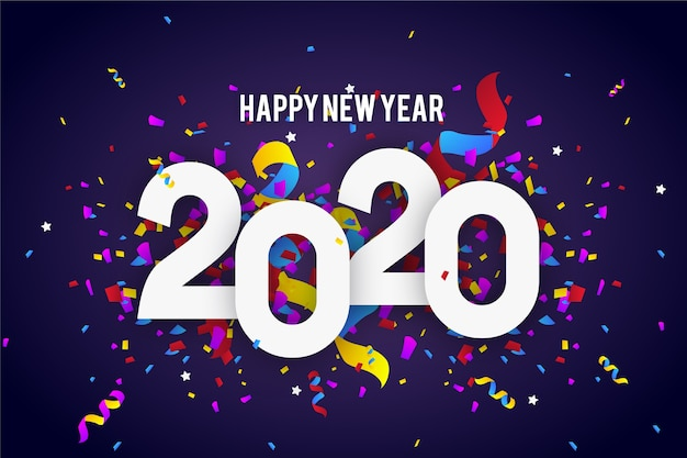 Fondo confeti año nuevo