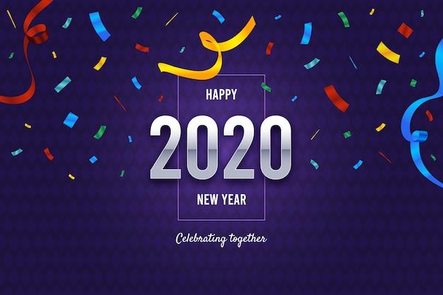 Fondo de confeti de año nuevo