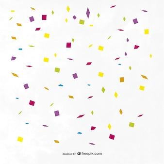 Fondo con confeti de colores
