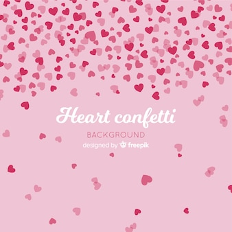 Fondo confeti corazón