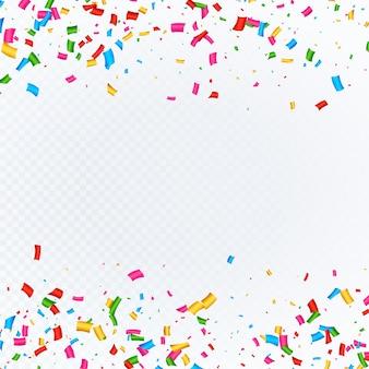 Fondo de confeti con espacio