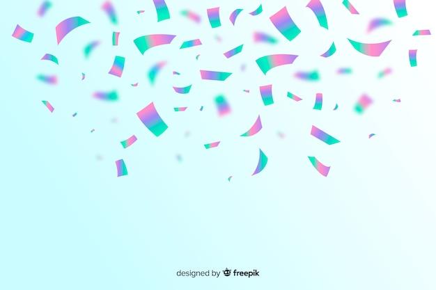 Fondo de confeti holográfico realista