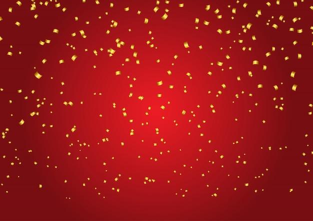 Fondo de confeti de oro