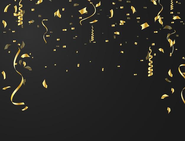 El fondo de confeti se usa para celebraciones.