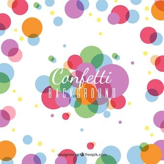 Fondo de confetti colorido en estilo plano