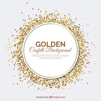 Fondo de confetti dorado