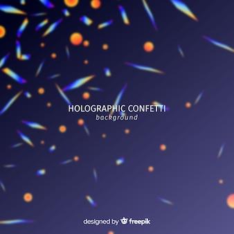 Fondo confetti holográfico realista cayendo