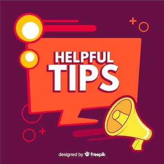 Fondo de consejos con megáfono