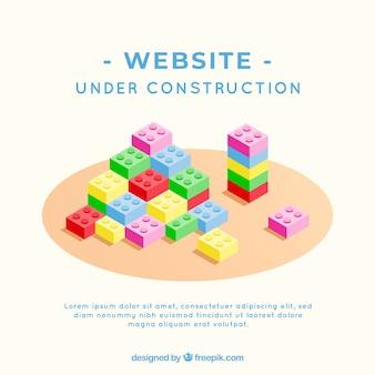 Fondo de bajo construcción en estilo plano