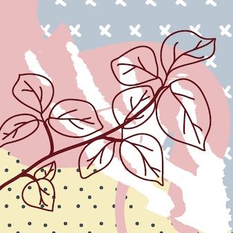 Fondo contemporáneo con florales
