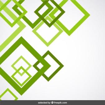 Fondo con contorno de cuadrados verdes