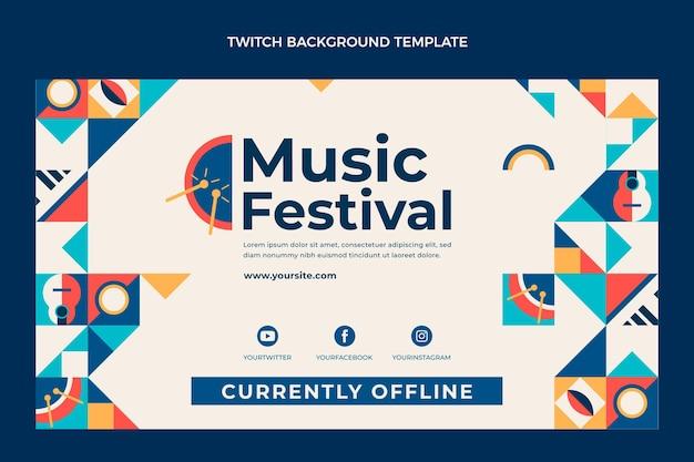 Fondo de contracción del festival de música de mosaico plano