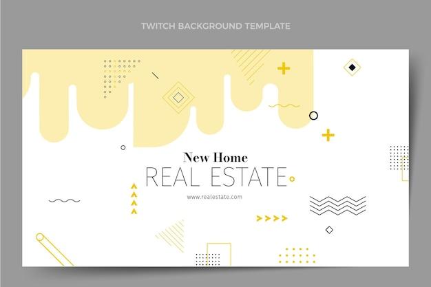 Fondo de contracción inmobiliaria geométrica abstracta plana