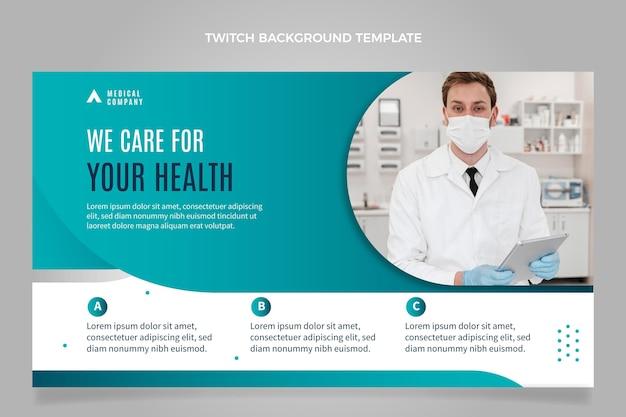 Fondo de contracción médica de diseño plano
