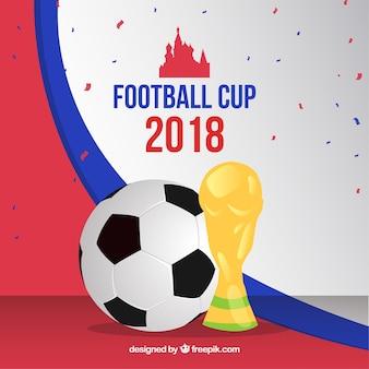 Fondo de copa mundial de fútbol 2018