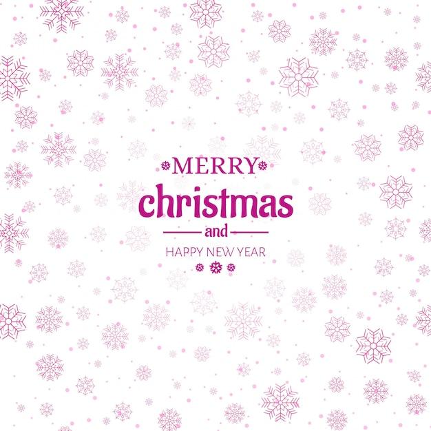 Fondo de copos de nieve feliz navidad tarjeta de felicitación